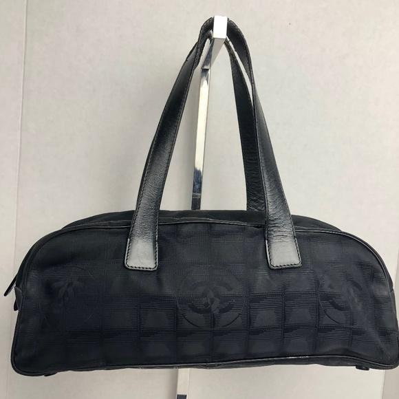 CHANEL Travel Line Mini Boston Bag Nylon Black 31c2379342045